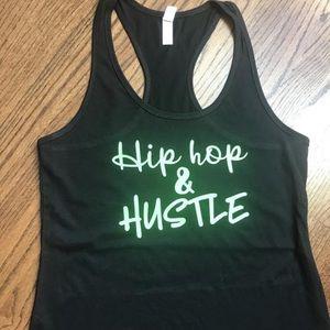 Ladies Hip Hop & Hustle racer back tank